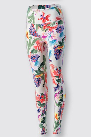 0085-5204  FLORAL PRINT LEGGINGS