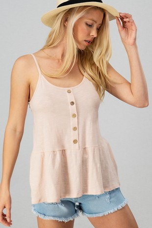 0362-5458-4 COTTON SLUB BUTTON BABYDOLL-