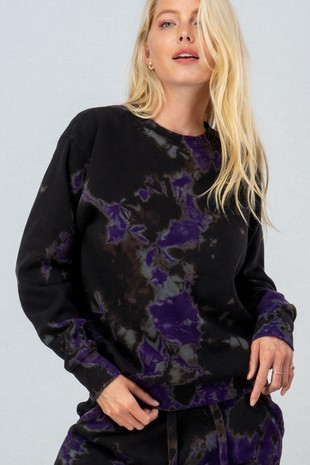 0077-8882 TIE DIE MIDNIGHT FLEECE SWEATSHIRT