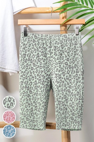 0119-8490 LEOPARD PRINT BIKE SHORTS
