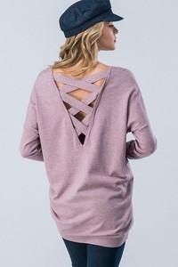 G4947-6 Cross Back Sweater Tunic-