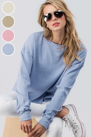 0481-2987-SALE  CASUAL LONG SLEEVE THERMAL TOP