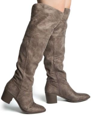 WOMEN KNEE HIGH SLOUCHY LOW HEEL BOOTS TOPANGA-74