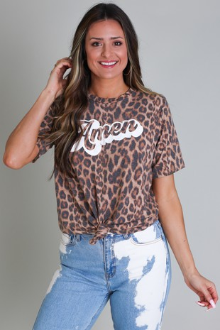 Amen-Faded Leopard Tee