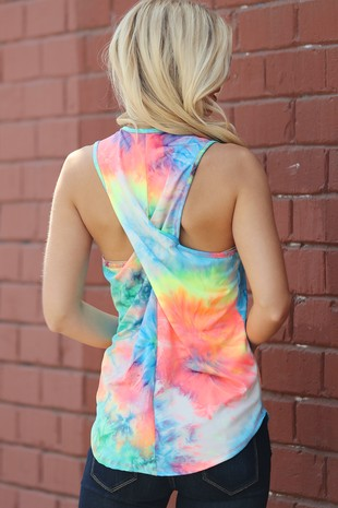 TA1819-003   NEON COLOR TIE DYED PRINT 2020