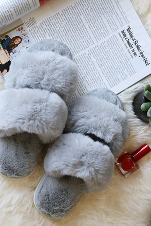 SL0011  HIGH QUALITY SUPER SOFT FAUX FUR SLIPPERS
