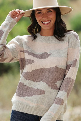 WK4020 SUPER SOFT DESERT CAMO KNITTED SWEATER 2