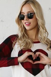 TC1720 PLAID HEART  TOP 2019