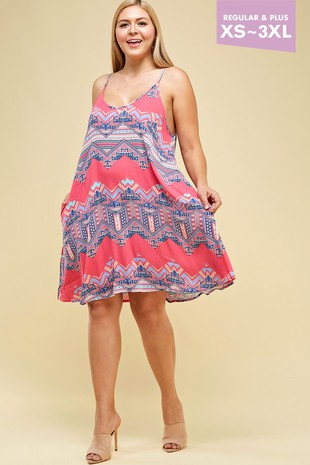 LILY-BRIGHT PINK TRIBAL